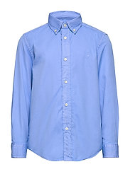 Garment-Dyed Twill Shirt - FALL BLUE