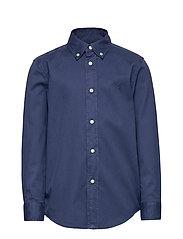 Garment-Dyed Twill Shirt - LIGHT NAVY