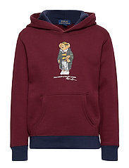 LS HOOD-TOPS-KNIT - CLASSIC WINE