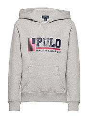 Flag Logo Fleece Hoodie - ANDOVER HEATHER