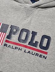 Ralph Lauren Kids - Flag Logo Fleece Hoodie - pulls à capuche - andover heather - 2