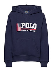 Flag Logo Fleece Hoodie - NEWPORT NAVY