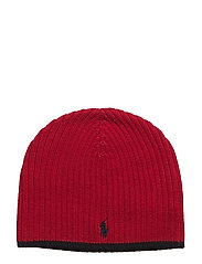 Ribbed Merino Wool Beanie - RALPH RED