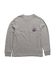 Cotton Jersey Graphic T-Shirt - ANDOVER HEATHER