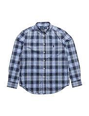 Cotton Poplin Shirt - BLUE MULTI