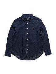 Linen-Cotton Sport Shirt - NEWPORT NAVY