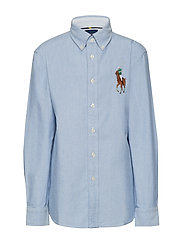 Big Pony Cotton Oxford Shirt - BLUE