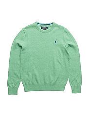 Cotton Crewneck Sweater - CABANA GREEN HEAT