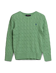 Cable-Knit Cotton Sweater - CABANA GREEN HEAT