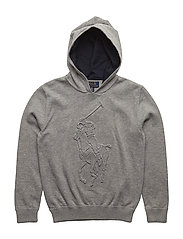 Big Pony Cotton Hoodie - ANDOVER HEATHER