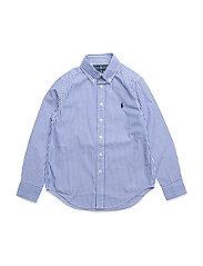 Striped Stretch Cotton Shirt - BLUE MULTI