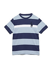 Striped Cotton Jersey T-Shirt - ESTATE BLUE MULTI