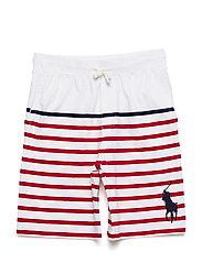 Striped Cotton Jersey Short - PURE WHITE MULTI