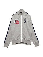 USA Cotton Track Jacket - LIGHT GREY HEATHE