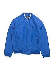 Cotton-Blend Track Jacket - HERITAGE BLUE