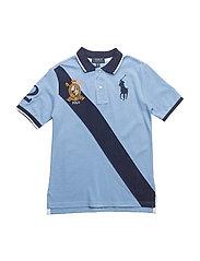 Cotton Mesh Polo Shirt - BLUE LAGOON