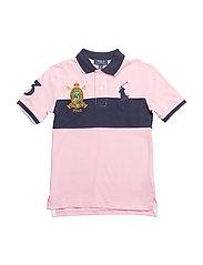 Cotton Mesh Polo Shirt - CARMEL PINK