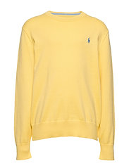 Cotton Crewneck Sweater - OASIS YELLOW