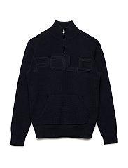 Cotton Half-Zip Sweater - HUNTER NAVY