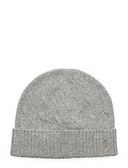 Cable-Knit Wool-Cashmere Hat - DARK SPORT HEATHE