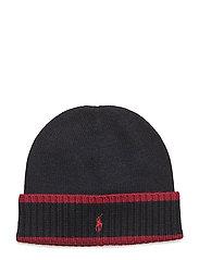 Striped Merino Wool Hat - HUNTER NAVY