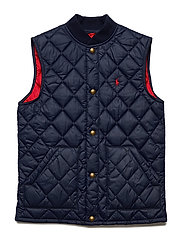 Quilted Baseball Vest - FRENCH NAVY