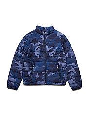 Packable Camo Down Jacket - NAVY CAMO