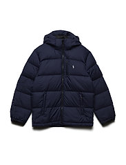 Quilted Ripstop Down Jacket - FRENCH NAVY