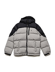 Quilted Ripstop Down Jacket - LT GREY HEATHER
