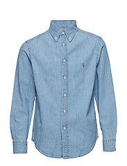 Cotton Chambray Shirt - LT BLUE
