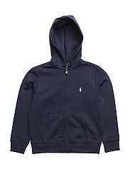 Double-Knit Full-Zip Hoodie - FRENCH NAVY