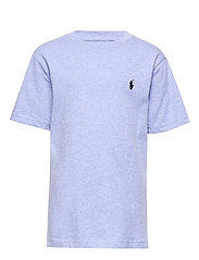 Cotton Jersey Crewneck Tee - COBALT HEATHER