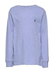 Cotton Jersey Crewneck T-Shirt - COBALT HEATHER