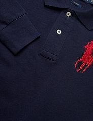 Ralph Lauren Kids - Slim Fit Cotton Mesh Polo - polo shirts - french navy - 3