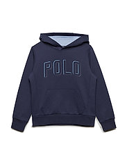 Double-Knit Graphic Hoodie - FRENCH NAVY