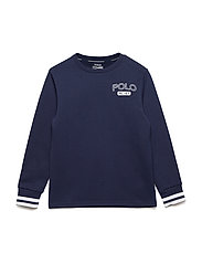 DOUBLE KNIT TECH-LS CN-TP-KNT - FRENCH NAVY