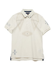PIECE DYED MESH-NOVEL RUGBY-TP-KNT - ANTIQUE CREAM