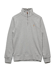 Cotton Half-Zip Pullover - ANDOVER HEATHER