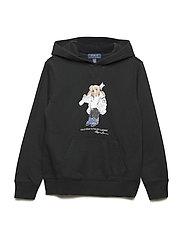 Ski Bear Cotton-Blend Hoodie - POLO BLACK