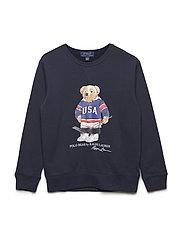 Hockey Bear Fleece Sweatshirt - RL NAVY