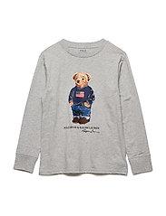 Polo Bear Cotton T-Shirt - ANDOVER HEATHER