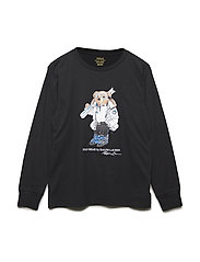 Ski Bear Cotton Jersey T-Shirt - POLO BLACK