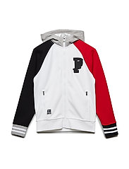 Double-Knit Full-Zip Hoodie - PURE WHITE