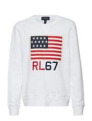 Flag Cotton Terry Sweatshirt - WHITE
