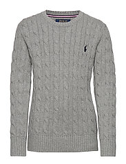 Cable-Knit Cotton Sweater - ANDOVER HEATHER