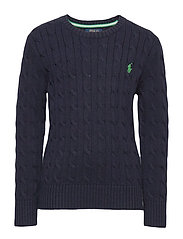 Cable-Knit Cotton Sweater - RL NAVY