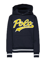 Double-Knit Graphic Hoodie - AVIATOR NAVY