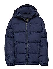 Hooded Down Jacket - FRENCH NAVY MULTI