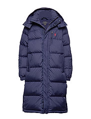 Down Hooded Coat - FRENCH NAVY