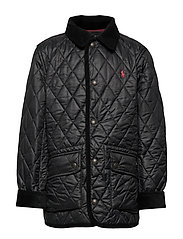 Water-Resistant Quilted Jacket - POLO BLACK